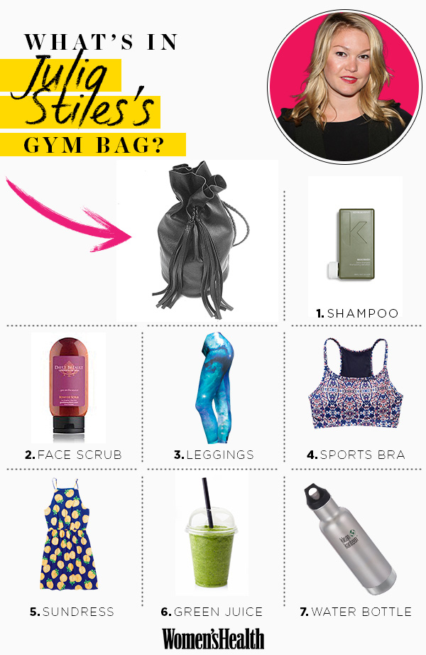 julia stles workout bag infographic