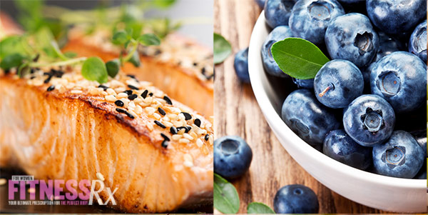 12 Superfoods For A Super You - Salmon and Blueberries