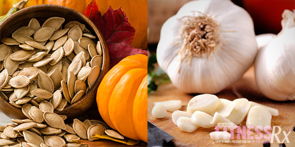 12 Superfoods For A Super You - Pumpkin Seeds and Garlic