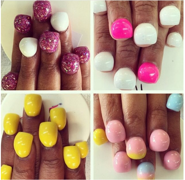 Manicures gone mad: Bubble nails !