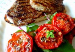 Low-fat Dish - Grilled Steak With Roasted Tomatoes